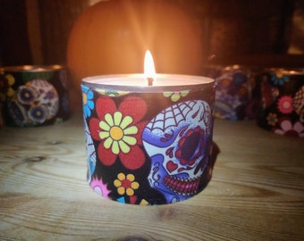Pumpkin & Maple Soy Scented Halloween Candle - Sugar Skull Decorative Scented Candle