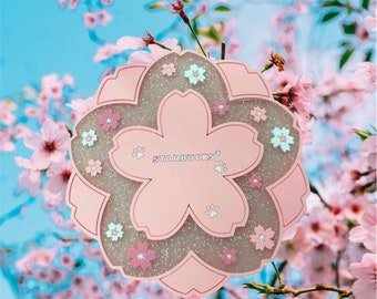 Hand painted Floral coaster Stone COASTERS Cherry blossom Decor SPRING DECOR Sakura Drink coasters