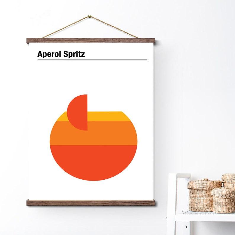 Aperol  orange vintage poster hanger magnet frame canvas poster  printing wall  print home decor printable art print photo magnets