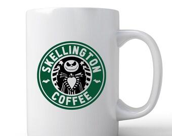 Nightmare Before Christmas Mug   Jack Skellington Mug   Coffee Mug