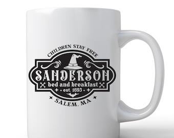 Hocus Pocus Mug   Sanderson Sisters Mug   Coffee Mug   Sanderson B&B