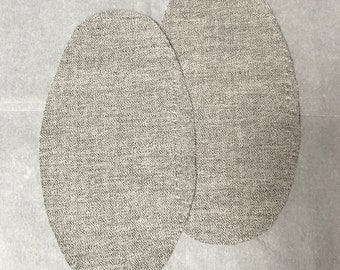 Sweater Elbow Patch Iron On Herringbone  - Set of 2