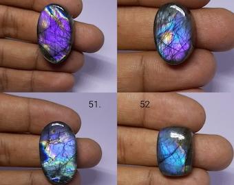 Attractive Purple Labradorite Cabochon Labardorite Gemstone Loose Fancy Crystal Labradorite Beads For Wire Wrap Jewelry 58x20x6 MM