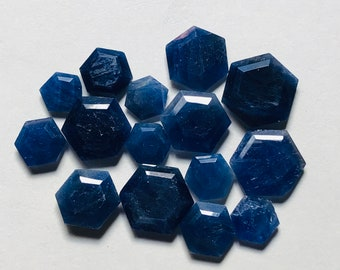 Blue sapphire faceted pear beads AAA 6.5-10mm 7pcs