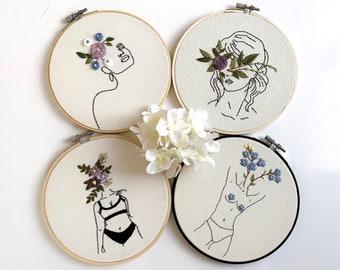 Feminist Scroll Embroidery Kit