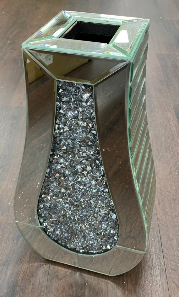 Brand New And Boxed Crushed Diamond Vase Smaller Height Version
