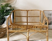NOW SOLD Beautiful vintage Franco Albini style) bamboo sofa seat immaculate condition and beautifully made comes with foam cushion pad
