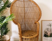 NOW SOLD - Beautiful wicker rattan peacock chair in very good condition