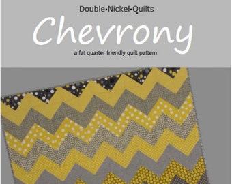 Chevrony fat quarter friendly quilt pattern #DNQ-118