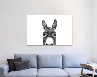 Canvas Painting Print Funny Donkey Wall Art Vintage For Living Room Decor Gift