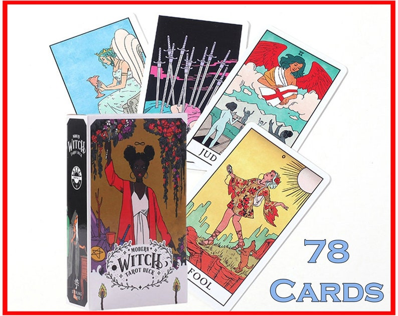 The Modern Witch Tarot Deck 78 Pcs Tarot Cards Witchcraft image 0