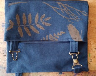 Hand Printed Satchel / Project Bag / Pouch