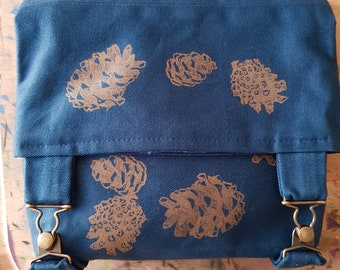 Hand Printed Satchel / Project Bag **second**