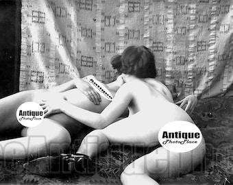 Beautiful Vintage  Girl  Retro Art Photo Reprint French Postcard Classic Pearls Paris