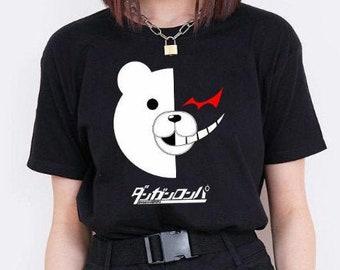 Unisex, Danganronpa Monokuma Shirt-danganronpa,danganronpa v3,danganronpa shirt,danganronpa 2,monokuma,anime shirt,super danganronpa,cosplay