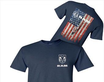 Truck Logo USA Flag T-Shirt - Unisex Adult Logo Tees - Assorted Colors
