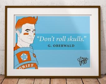 Blood Bowl Inspired 'Don't Roll Skulls' Poster