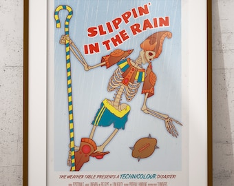 Blood Bowl Inspired 'Slippin' In The Rain' Poster