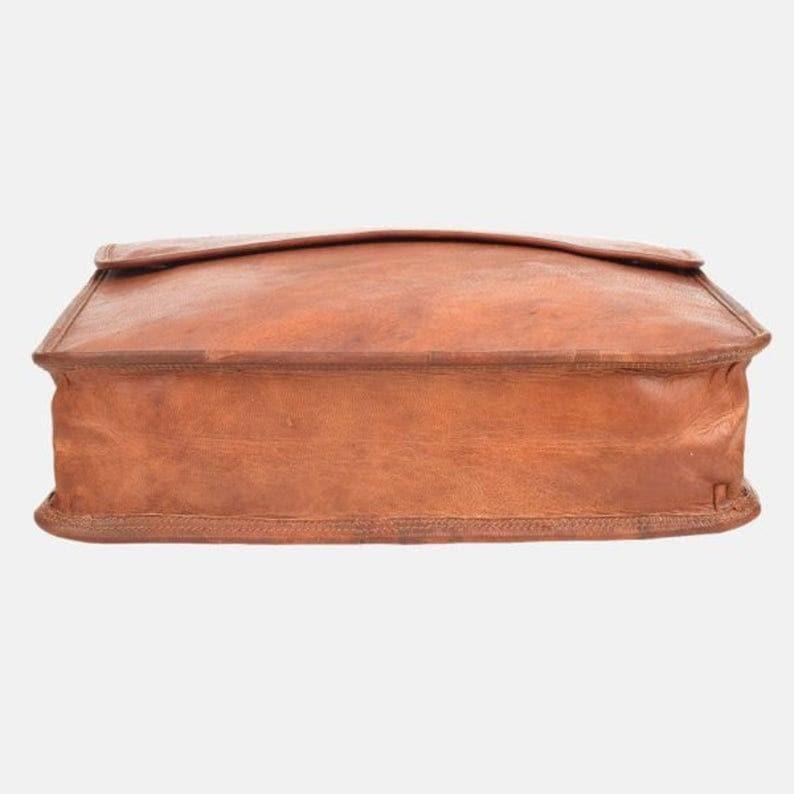 Genuine leather messenger bag college bag laptop bag shoulder bag for women gift for men office bag work briefcase Large Satchel rustic bag
