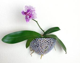 Wall Pot Mesh Orchid Pot Airplant Pot Wall Planter Indoor Outdoor Orchid Planter Hanging Planter Voronoi Wall Hanging Planter