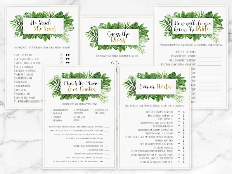 Bridal Shower Games Printable Download /& Print Hen Party Game Bundle Bachelorette Party Bundle 20 Botanical Bridal Shower Games Bundle