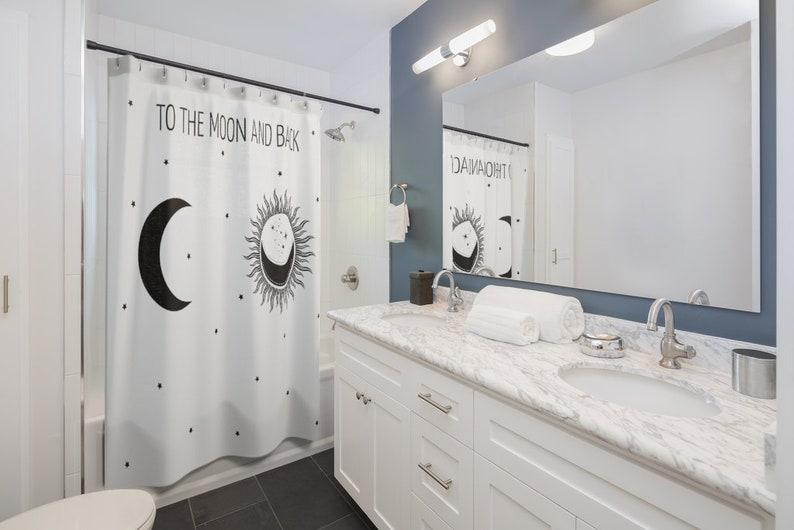 Moon and Star Accessories Bath Decor Bathroom Decor Unique Bathroom Decor To The Moon And Back Shower Curtain
