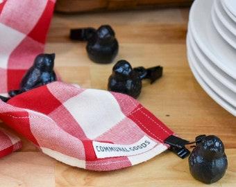 Little Bird Tablecloth Weights   Cast Iron Tablecloth Weights   Tablecloth Clips