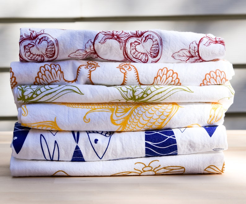 Set of Three  Mix & Match  Tea Towel  Kitchen Towel  Dish image 0