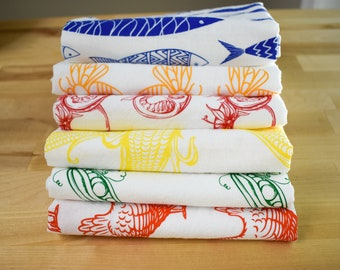Set of Three   Mix & Match   Tea Towel   Kitchen Towel   Dish Towel   Flour Sack Kitchen Towel