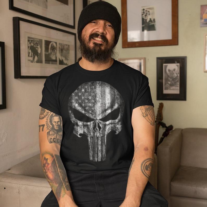 American Flag Skull Shirt Masswerks Store