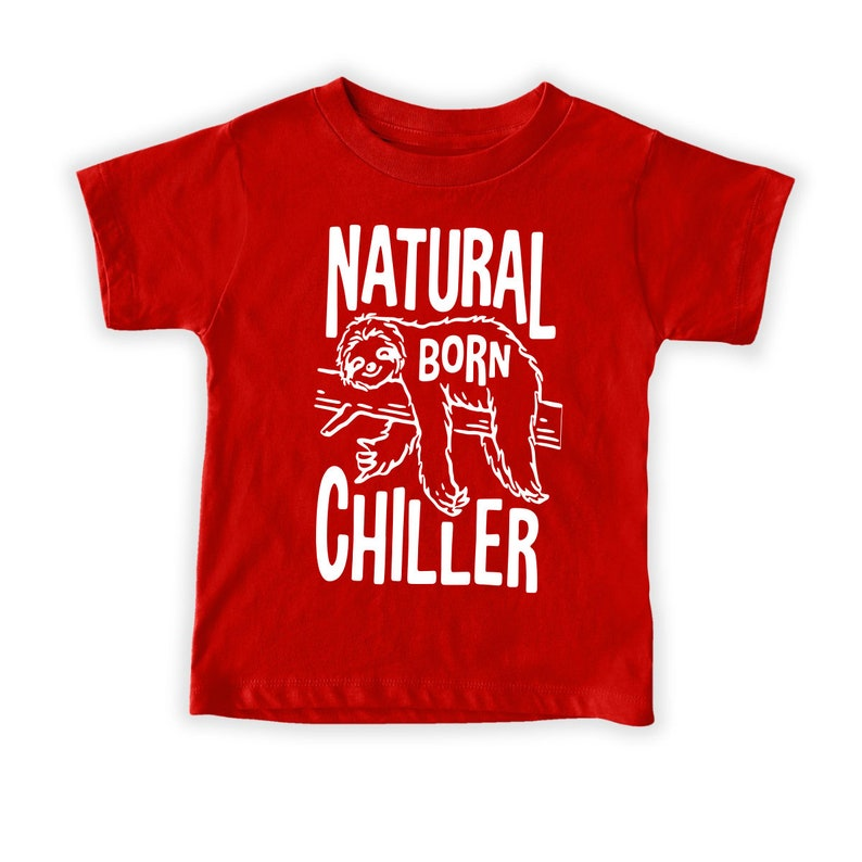 Funny Sloth Youth Cute Sloth Youth Sloth Lover Youth Natural Born Chiller Adorable Animals Youth Animal Chill Tee Gift For Sloth Lover