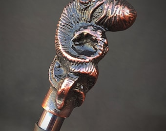 Antique Style Octopus Head Handle Victorian Walking Stick Wood Cane gift