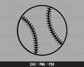 Baseball Outline Svg, Baseball Svg, Baseball Outline Cut File, Baseball Silhouette Svg, Baseball Cut File