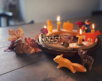 Autumn ornament for Grimms Birthday Ring, waldorf wooden ring, autumn decor, celebration ornament - also available in Herfst, Fall or Herbst