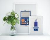 Painted With Jeffree Star Eyeshadow, Original Blue Lipstick Wall Art, 3D 5x7, Makeup Room Decor