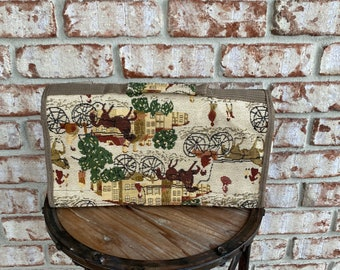 Vintage Jade Carpet Bag With Rollers, Jade Luggage, Duffle Bags, Tapestry Luggage