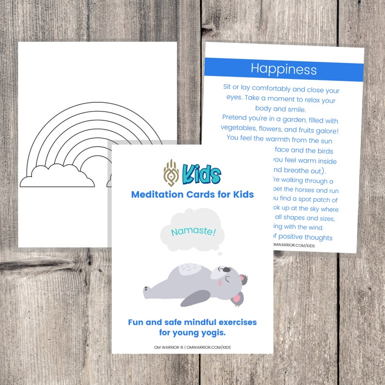 Meditation Cards for Kids  Fun and Safe Mindful Exercises for image 0