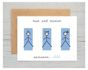 Savasana, Corpse Pose Yoga Greeting Card