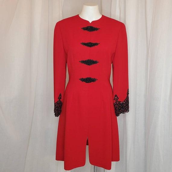 Vintage Badgley Mischka Red Dress