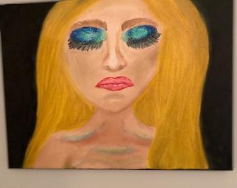 "Slumber 12""x16"" mixed media on canvas"