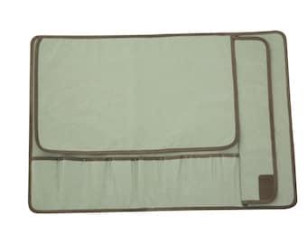 8 pocket - Canvas Knife Roll - Light Green -/-/- Knife case, Knife storage, Chef bag
