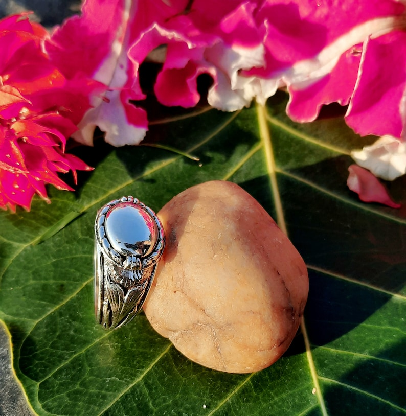 gift Secret Message Ring handmade ring sterling silver 925 ring with out Stone Ring Solid poison ring love ring,small box ring