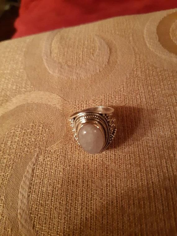 Morganite Silver Ring