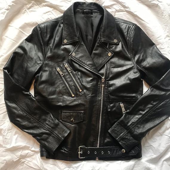 Vintage Leather Biker Jacket