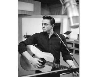 Johnny Cash Singer Walk In Glossy Poster Home Wall Room Decor No Frame Xmas Gift