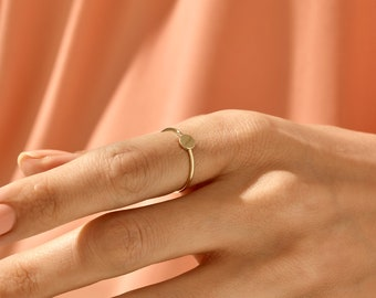 Unique Sharp Ring 14k Solid Gold Edge Ring Dainty Geometric Ring Geometric Ring Designer Edge Ring Mother/'s Day Gift Gold Women/'s Ring