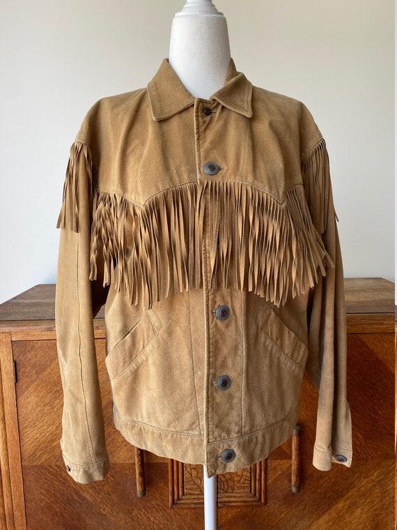Vintage 1980s Liz Wear by Liz Claiborne Suede Frin
