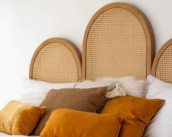 SUMATRA Wooden Headboard w. Cane Webbing