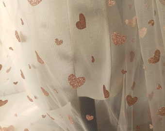 220-167 Width 62.99 inches lace fabric,heart lace fabric,gilding soft mesh fabric,lace for DIY dress