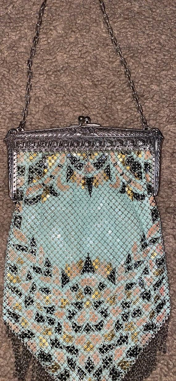 Vintage Mandalian Mesh 1920's Flapper Handbag - image 7